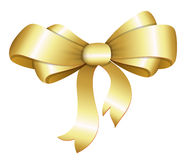 Golden Bow Vector Illustration Stock Images
