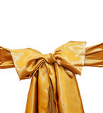 Golden bow on a white background paths Royalty Free Stock Photo