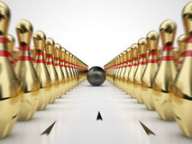 Golden Bowling Royalty Free Stock Images