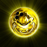 Golden bowling ball Stock Photography