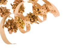 Golden bows Royalty Free Stock Photography