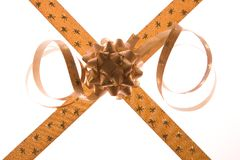Golden bows Royalty Free Stock Images