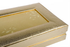 Golden box Stock Images