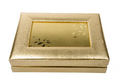 Golden box Royalty Free Stock Image