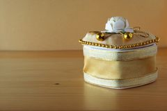 Golden Box Royalty Free Stock Photography