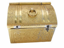 Golden box Stock Image