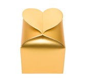 Golden box with heart Stock Image