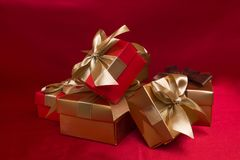 Golden box royalty free stock images