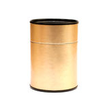 Golden box for tea Royalty Free Stock Photos