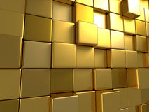 Golden Boxes Abstract Surface Background Royalty Free Stock Photos