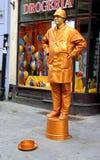 Golden boy. Golden boy Actor Torun Poland Royalty Free Stock Images
