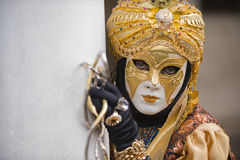 The golden boy. Beautiful costum at the carnival in Venice, pls see other images of this event in my portfolio Stock Images