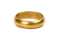 Golden bracelet royalty free stock photography