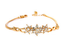 Golden bracelet Royalty Free Stock Photo