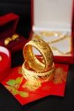 Golden bracelet Stock Photos