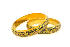 Golden bracelet Royalty Free Stock Images