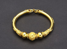 Golden bracelet Royalty Free Stock Images
