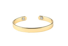 Golden bracelet Stock Photography