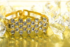 Golden bracelet Royalty Free Stock Image