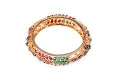 Golden bracelet Stock Photography