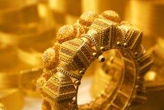 A golden bracelet Stock Photos