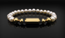 Golden bracelet  on black Royalty Free Stock Photography
