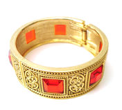 Golden bracelet isolated Royalty Free Stock Photo