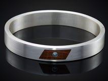 Golden bracelet isolated on black Royalty Free Stock Photo