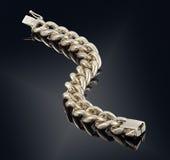 Golden bracelet isolated on black Royalty Free Stock Photos
