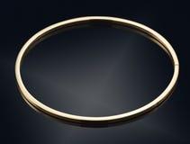Golden bracelet isolated on black Stock Images