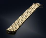 Golden bracelet isolated on black Stock Image