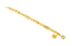 Golden bracelet Stock Photo
