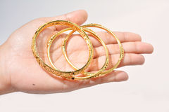 Golden bracelet Royalty Free Stock Image