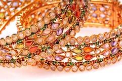Golden bracelets Stock Photography