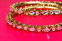 Golden bracelets Royalty Free Stock Photo
