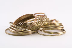 Golden bracelets Royalty Free Stock Photos