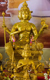 Golden brahma statue Royalty Free Stock Image