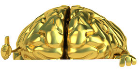 Golden brain Royalty Free Stock Photo