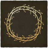 Golden branch old background Royalty Free Stock Photography