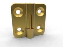 Golden brass hinge Stock Images
