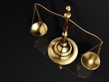 Golden brass scale Royalty Free Stock Photos