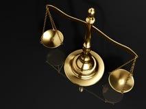 Golden brass scale. A golden brass scale on black background - 3d render vector illustration
