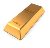Golden brick Royalty Free Stock Photos
