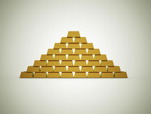 Golden brick Royalty Free Stock Photography