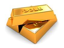 Golden bricks Stock Photos