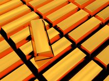 Golden bricks Stock Photo