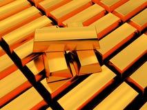 Golden bricks Stock Images