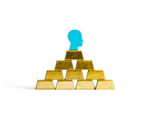 Golden bricks: wealth conceptualisation  Stock Photos
