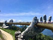 Free Golden Bridge At Ba Na Hills In Danang, Vietnam Royalty Free Stock Photo - 166920085