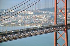 Golden bridge in Lisbon Stock Photography